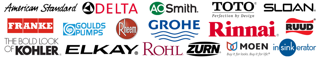 Some plumbing brands W Smith Plumbing works with